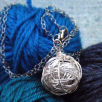 Silver Yarn Necklace
