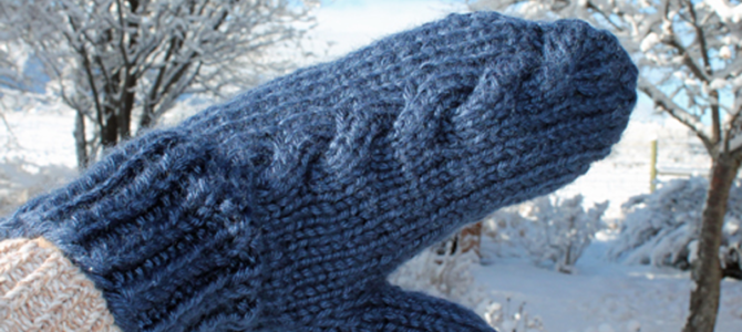 Subtle Cable Knit Mittens Knitting Pattern
