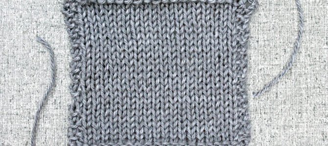 How to Make a Knitting Gauge Swatch
