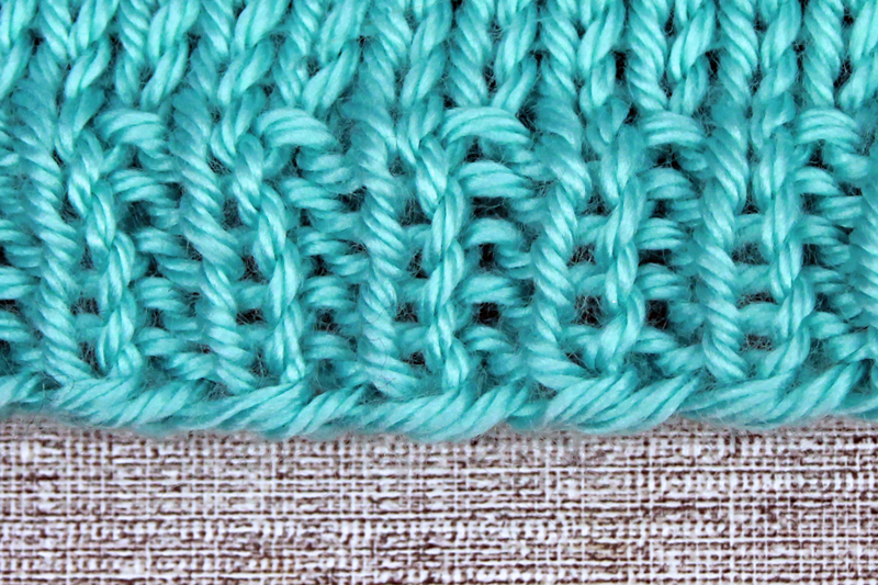 Learn to Knit Step 9: Following knitting patterns, knit-purl rib