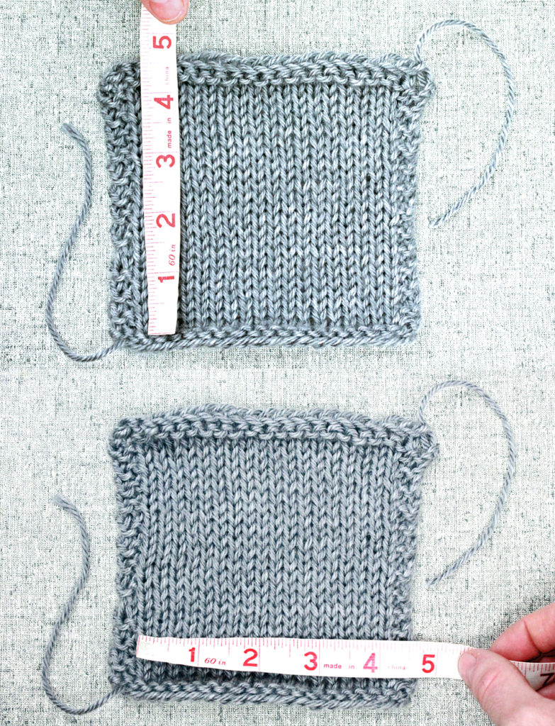 Learn to Knit: How to Make a Gauge Swatch, measuring knitting gauge tutorial from Liz @PurlsAndPixels