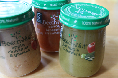 How to remove labels form Beechnut baby food jars