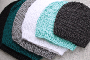 basic knit beanie hat