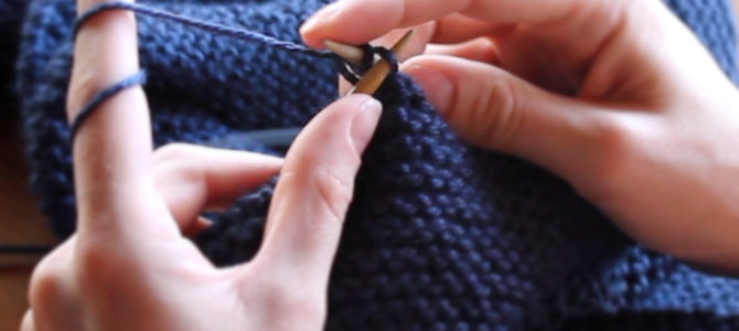 Bind Off or Cast Off Stitches to Finish Knitting
