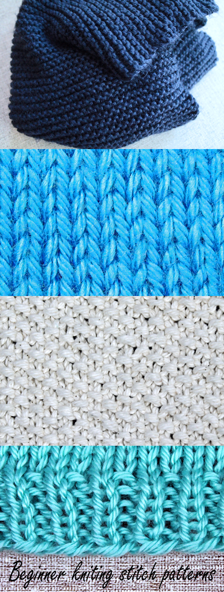 Knitting Jenny Basics : Beginner knitting stitch patterns purlsandpixels