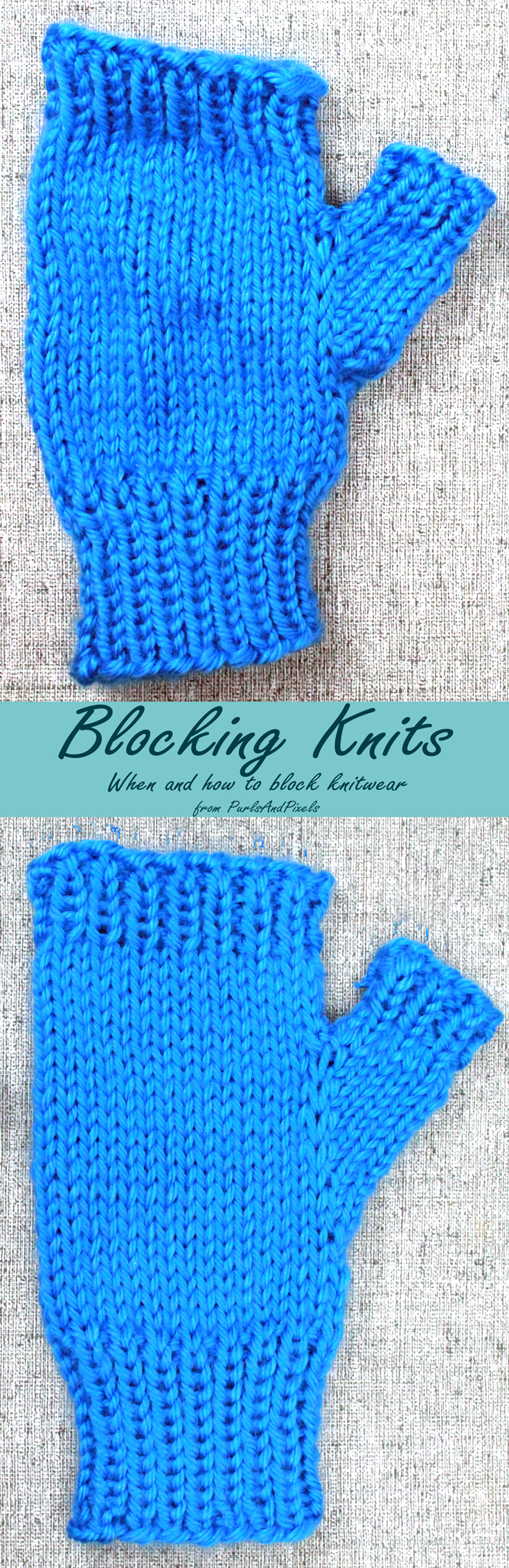 Blocking Knits, When and how to block knitwear, guide from PurlsAndPixels