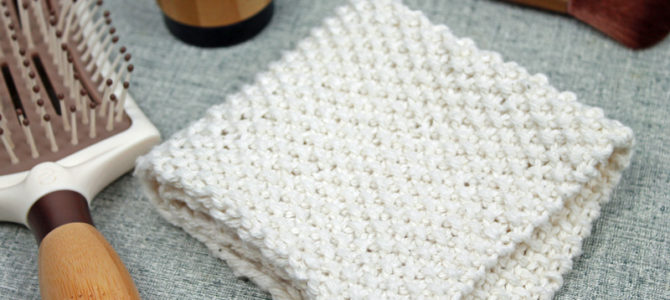 Seed Stitch Washcloth, Free Knitting Pattern