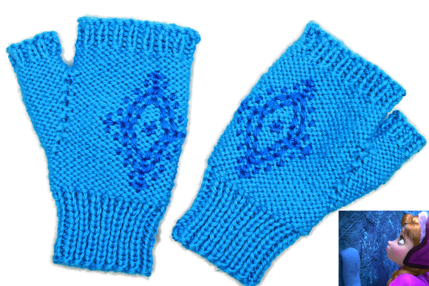 Knitting Pattern, Annas Frozen Fingerless Gloves ...