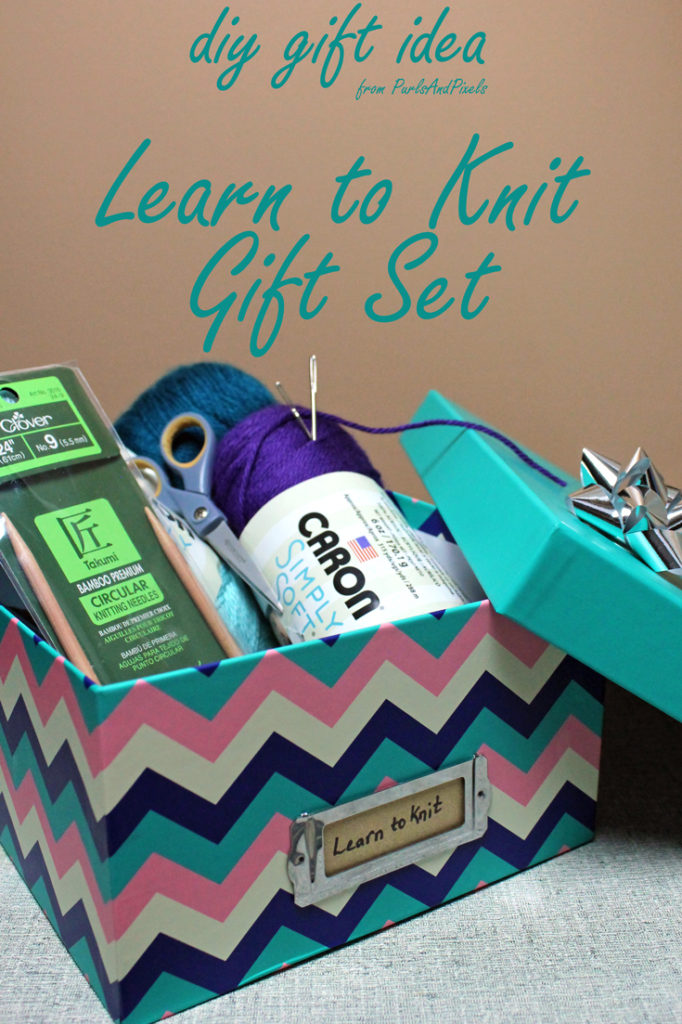 Learn to knit gift set, DIY gift idea from Liz @PurlsAndPixels