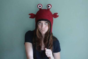 Hermit crab hat handmade crochet animal costume hat by PurlsAndPixels