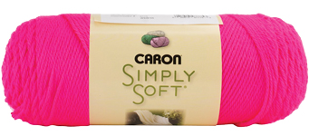 DIY learn to knit gift set, Caron Simply Soft acrylic yarn