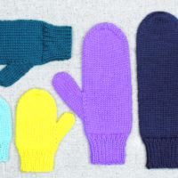 Basic Knit Mittens in All Sizes, knitting pattern designed by PurlsAndPixels
