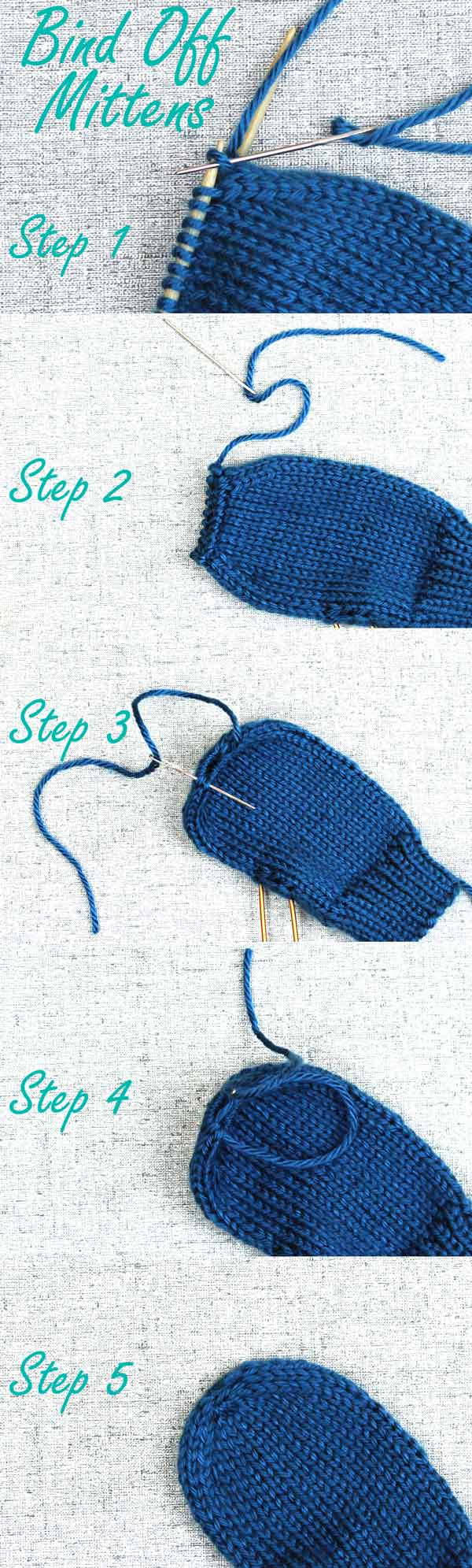 Binding Off Stitches In Knitting : Binding Off Mittens, Finishing tips for handknit mittens - PurlsAndPixels