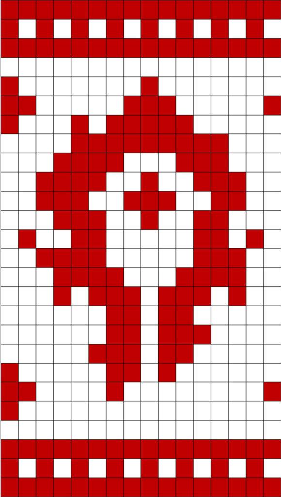 World Of Warcraft Horde Symbol Knit Hat Free Knitting Chart