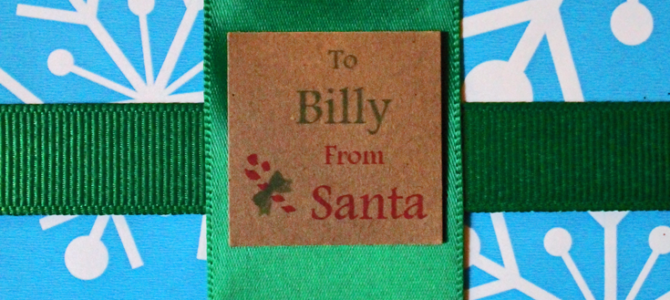 "Printable ""From Santa"" Gift Tags for Christmas, a Free DIY project"