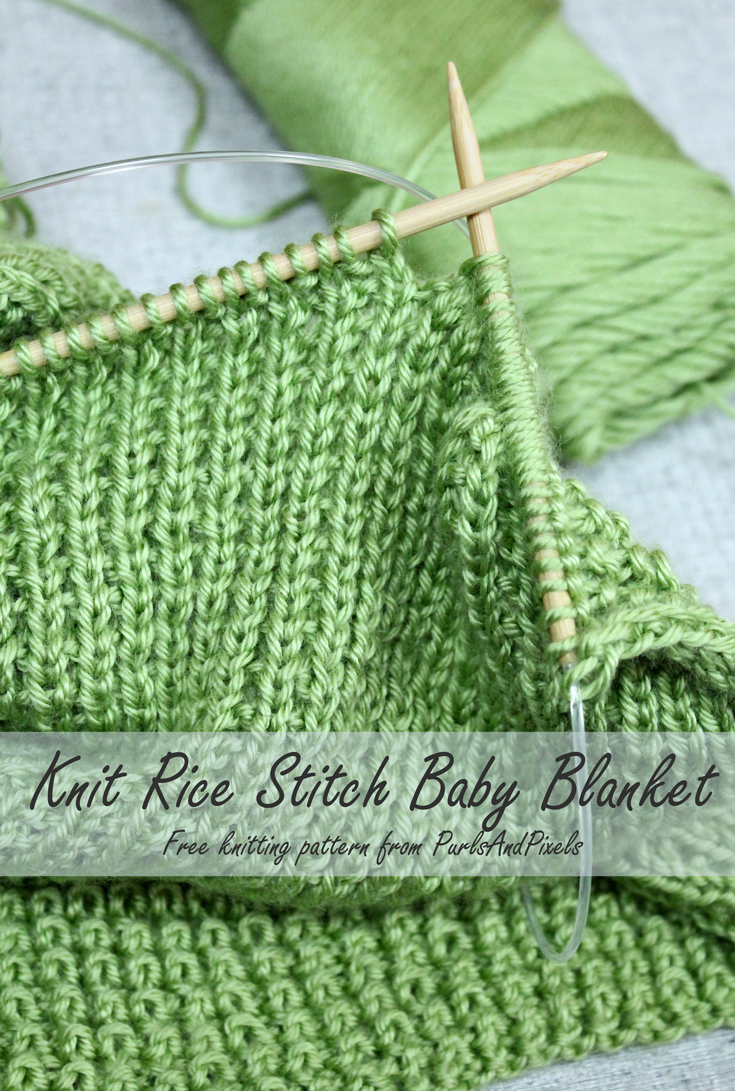Rice stitch baby blanket free knitting pattern purlsandpixels free baby blanket knitting pattern rice stitch blanket from purlsandpixels dt1010fo