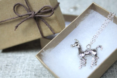 Alpaca Necklace in a gift box, gift idea from Liz @PurlsAndPixels