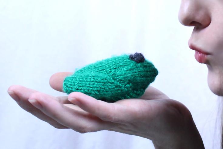 Little frog knitting pattern, free from Liz Chandler @PurlsAndPixels