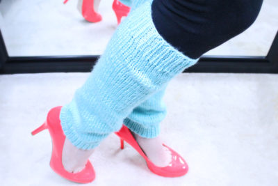 DIY Leg warmers, knitting pattern, designed by Liz Chandler @PurlsAndPixels