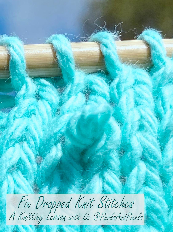 Fix Dropped Knit Stitches
