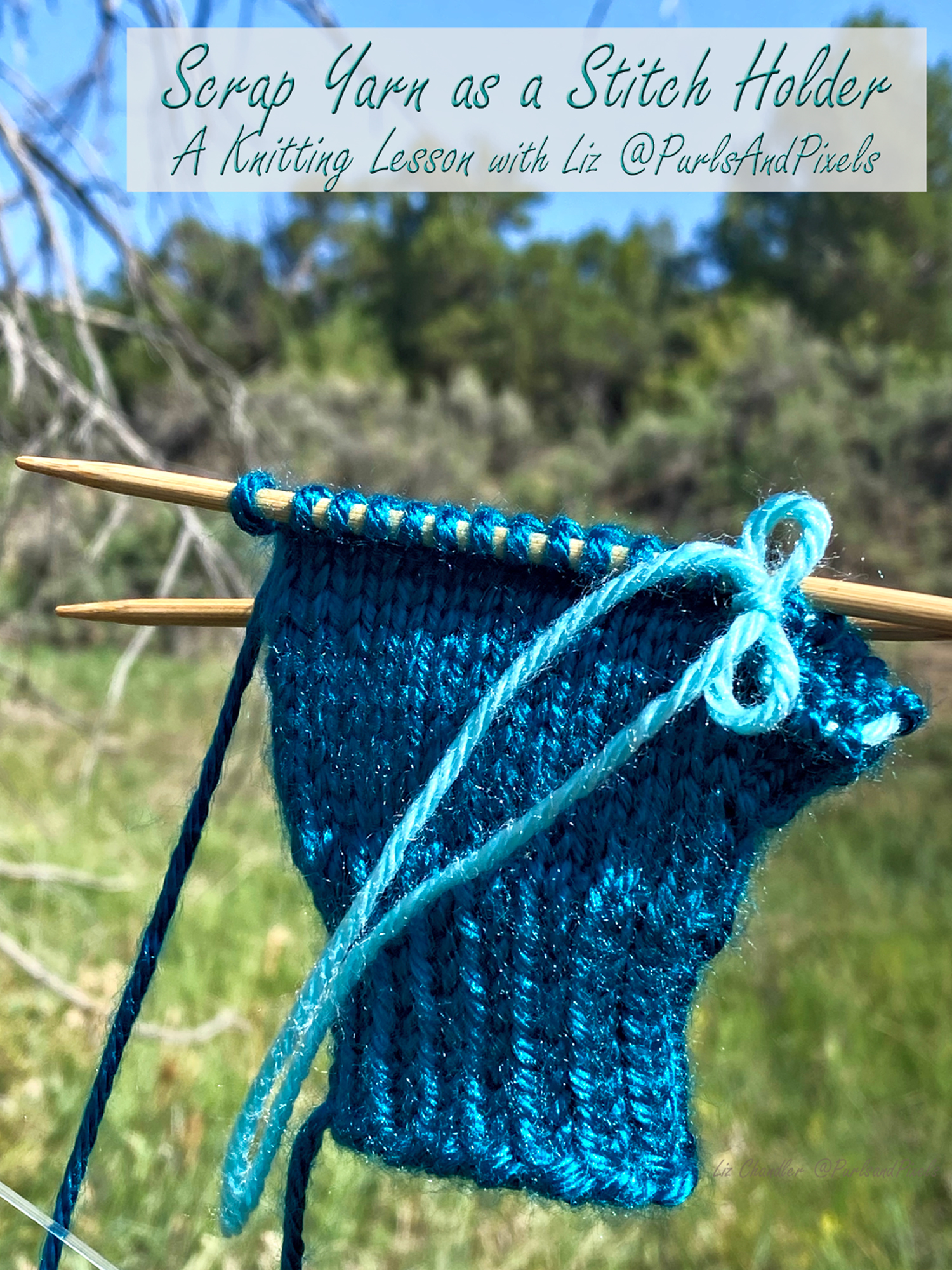 Using Scrap Yarn Instead of Stitch Holders